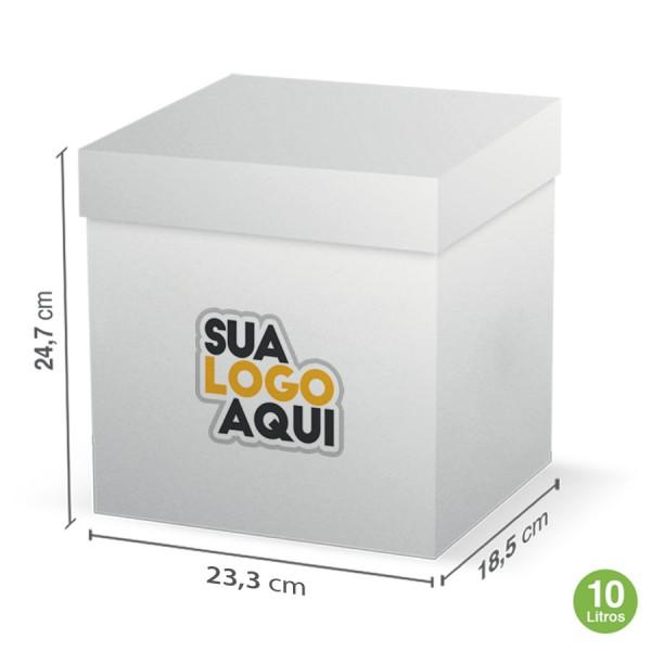 Caixa Branca Personalizada  10 L